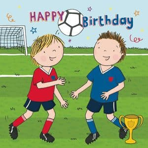 JJ16  Happy Birthday Card For Boy Football